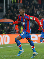 GOAL - Wilfried Zaha of Crystal Palace makes it 1-1 during the Premier League match between Crystal Palace and Brighton and Hove Albion at Selhurst Park, London, England on 16 December 2019. Photo by Carlton Myrie / PRiME Media Images.