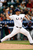 Todd Jones of the USA during the World Baseball Championships at Angel Stadium in Anaheim,California on March 12, 2006. Photo by Larry Goren/Four Seam Images