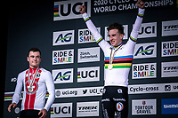 new world champion men's U23 Ryan Kamp (NED)<br /> <br /> Men's U23 race<br /> UCI 2020 Cyclocross World Championships<br /> Dübendorf / Switzerland<br /> <br /> ©kramon