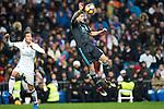Real Madrid's forward Lucas Vazquez and Real Sociedad's defender Inigo Martinez during the match of La Liga between Real Madrid and   Real Sociedad at Santiago Bernabeu Stadium in Madrid, Spain. January 29th 2017. (ALTERPHOTOS/Rodrigo Jimenez)