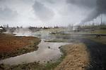 Steam park at Hveragerdi