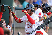 Second baseman Yoan Moncada of the Greenville Drive in a game against the Rome Braves on Monday, June 15, 2015, at Fluor Field at the West End in Greenville, South Carolina. The Cuban-born 19-year-old Red Sox signee has been ranked the No. 1 international prospect in baseball by Baseball America. (Tom Priddy/Four Seam Images)