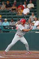 Clearwater Threshers outfielder Andrew Pullin (17) in action during a game against the Daytona Tortugas at Radiology Associates Field at Jackie Robinson Ballpark on May 9, 2015 in Daytona, Florida. Clearwater defeated Daytona 7-0. (Robert Gurganus/Four Seam Images)