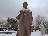 """Leninskulptur,Der Skulpturenpark """"Museon"""" im Zentrum von Moskau. Im Herbst 1991 wurde die Sowjetunion Geschichte, alte Helden gestürzt und hier, in der Nähe des damaligen Gorki Park, ins Gras geworfen."""