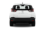 Straight rear view of 2019 Opel Crossland-X Edition 5 Door SUV Rear View  stock images