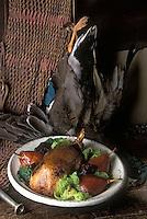 """Europe/France/Centre/45/Loiret/Orléans: Canards sauvages à l'embeurré de chou vert - Recette de S. Le Bras du restaurant """"La Poutrière"""""""