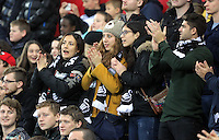 Swansea supporters during the Premier League match between Swansea City and Sunderland at The Liberty Stadium, Swansea, Wales, UK. Saturday 10 December 2016