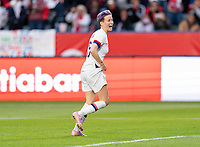 CARSON, CA - FEBRUARY 9: Megan Rapinoe #15 of the United States celebrates during a game between Canada and USWNT at Dignity Health Sports Park on February 9, 2020 in Carson, California.