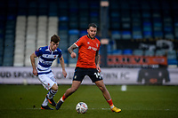 9th January 2021; Kenilworth Road, Luton, Bedfordshire, England; English FA Cup Football, Luton Town versus Reading; goalscorer George Moncur of Luton Town holds the ball up in midfield