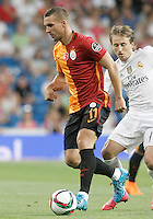 Galatasaray's Lukas Podolski during XXXVI Santiago Bernabeu Trophy. August 18,2015. (ALTERPHOTOS/Acero)