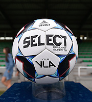 matchball of Club Brugge  pictured on the Scooore Superleague standard before a female soccer game between Club Brugge Dames YLA and RSC Anderlecht on the third matchday of the 2021 - 2022 season of Belgian Scooore Womens Super League , saturday 4 september 2021in Aalter , Belgium . PHOTO SPORTPIX   DIRK VUYLSTEKE