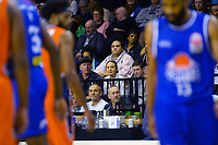 Fans watch the National Basketball League match between Cigna Wellington Saints and Southland Sharks at TSB Bank Arena in Wellington, New Zealand on Friday, 7 May 2021. Photo: Dave Lintott / lintottphoto.co.nz
