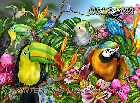 Lori, REALISTIC ANIMALS, REALISTISCHE TIERE, ANIMALES REALISTICOS, zeich, paintings+++++Birds Of A Feather,USLS133,#a#, EVERYDAY ,puzzle,puzzles