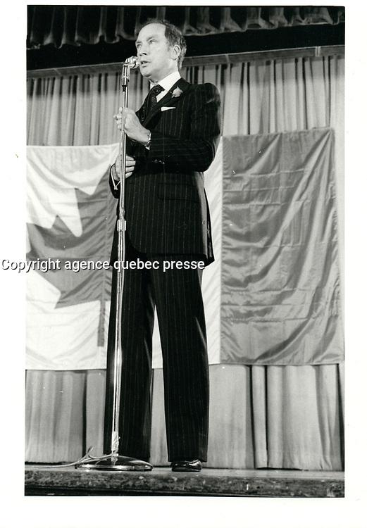 Pierre Trudeau , 20 avril 1978<br /> <br /> PHOTO : agence quebec presse