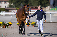 CZE-Miloslav Prihoda Jr presents Ferreolus Lat during the First Horse Inspection. 2021 SUI-FEI European Eventing Championships - Avenches. Switzerland. Wednesday 22 September 2021. Copyright Photo: Libby Law Photography