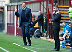 Motherwell v St Johnstone…20.10.18…   Fir Park    SPFL<br />Saints manager Tommy Wright shouts instructions<br />Picture by Graeme Hart. <br />Copyright Perthshire Picture Agency<br />Tel: 01738 623350  Mobile: 07990 594431