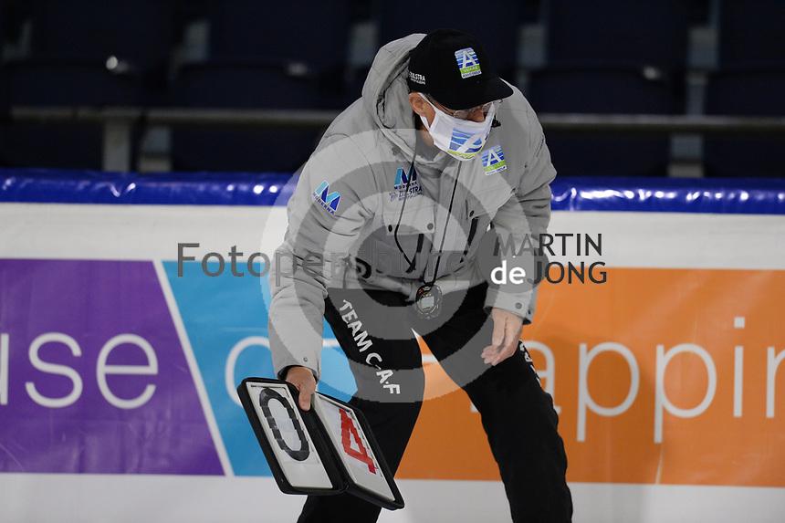SCHAATSEN: HEERENVEEN: 10-10-2020, IJsstadion Thialf, KNSB Trainingswedstrijd, Jillert Anema, ©foto Martin de Jong