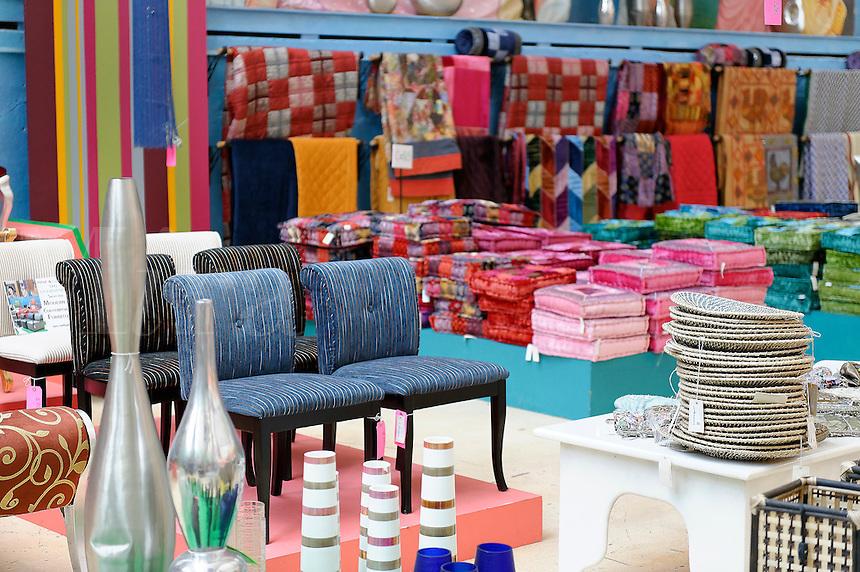 Home furnishing store display.