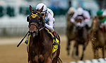 June 3, 2021:  Happy Soul with John Velazquez abaords wins the Astoria Stakes at Belmont Park in Elmont, New York on June 3, 2021. Evers/Eclipse Sportswire/CSM