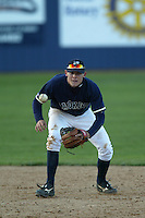 Tyler Greene of the Georgia Tech Yellow Jackets at shortstop during a 2004 season game against the Southern California Trojans at Goodwin Field, in Fullerton, California. (Larry Goren/Four Seam Images)