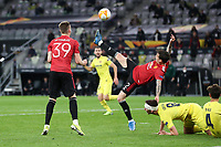 26th May 2021; STADION GDANSK GDANSK, POLAND; UEFA EUROPA LEAGUE FINAL, Villarreal CF versus Manchester United: Manchester United's Victor Lindolof clears overhead