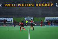 Waikato v Canterbury 1 (3rd place playoff). Under-18 Hockey Tournament finals day at National Hockey Stadium in Wellington, New Zealand on Saturday, 17 July 2021. Photo: Dave Lintott / lintottphoto.co.nz https://bwmedia.photoshelter.com/gallery-collection/Under-18-Hockey-Nationals-2021/C0000T49v1kln8qk