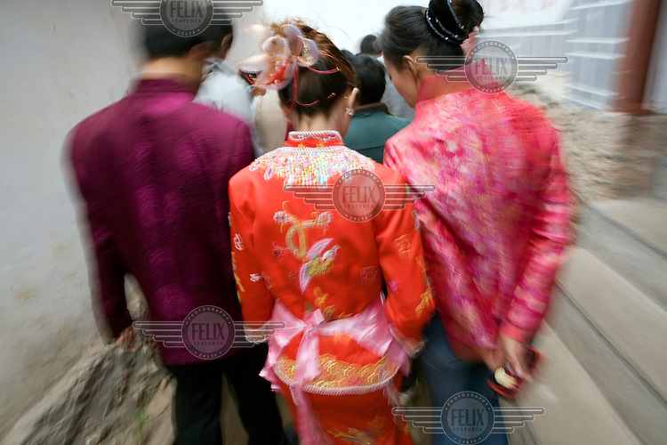 A Nakhi (Naxi) wedding in the old town of Lijiang.