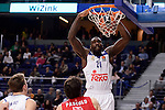 Real Madrid's Othello Hunter during Turkish Airlines Euroleage match between Real Madrid and EA7 Emporio Armani Milan at Wizink Center in Madrid, Spain. January 27, 2017. (ALTERPHOTOS/BorjaB.Hojas)