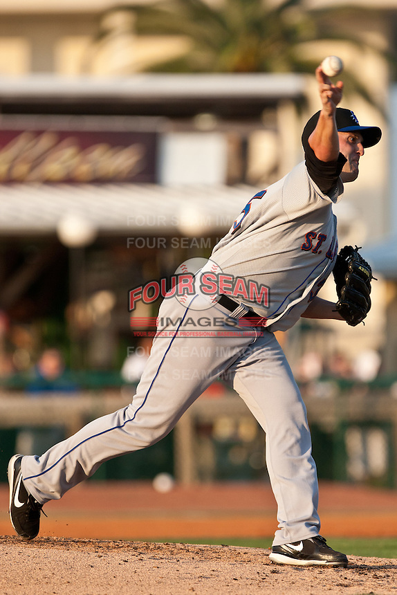 Pitcher Jack Egbert #35 of the St. Lucie Mets during a game against the Daytona Cubs at Jackie Robinson Ballpark on May 25, 2011 in Daytona Beach, Florida. (Scott Jontes / Four Seam Images)