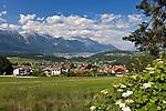 Austria, Tyrol, Innsbruck Holiday Village: Mutters | Oesterreich, Tirol, Innsbrucks Feriendorf: Mutters am Eingang des Stubaitals