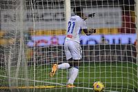 Duvan Zapata of Atalanta BC scores a goal during the Serie A football match between Benevento Calcio and Atalanta BC at stadio Ciro Vigorito in Benevento (Italy), January 09, 2021. <br /> Photo Cesare Purini / Insidefoto