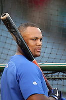 Texas Rangers third baseman Adrian Beltre #29 before a game against the Los Angeles Angels at Angel Stadium on September 27, 2011 in Anaheim,California. Texas defeated Los Angeles 10-3.(Larry Goren/Four Seam Images)