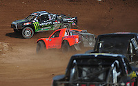 Mar. 19, 2011; Chandler, AZ, USA;  LOORRS pro four driver Johnny Greaves leads a pack of drivers during round one at Firebird International Raceway. Mandatory Credit: Mark J. Rebilas-