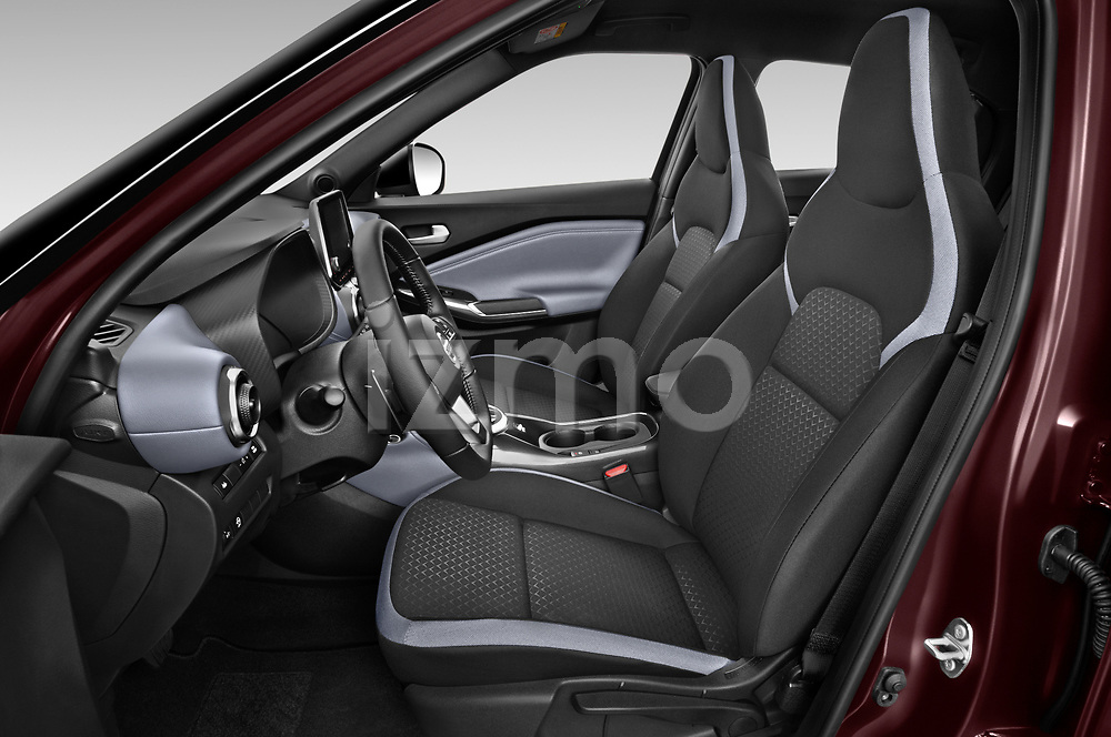 Front seat view of 2020 Nissan Juke 5 Door SUV Front Seat  car photos