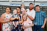 The christening of Pauric Daniel O'Sullivan from Ballydesmond in the Crown Hotel in Castleisland on Saturday. L to r: Mary Brosnan (GM). Margaret O'Sullivan MOM , baby Pauric O'Sullivan Stack, Adrian Stack DAD, Emma O'Sullivan, Jade O'Sullivan Stack and Robert Hannon GF.