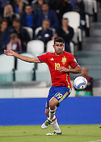 Spain Diego Costa in action during the Fifa World Cup 2018 qualification soccer match between Italy and Spain at Turin's Juventus Stadium, October 6, 2016. The game ended 1-1.<br /> UPDATE IMAGES PRESS/Isabella Bonotto