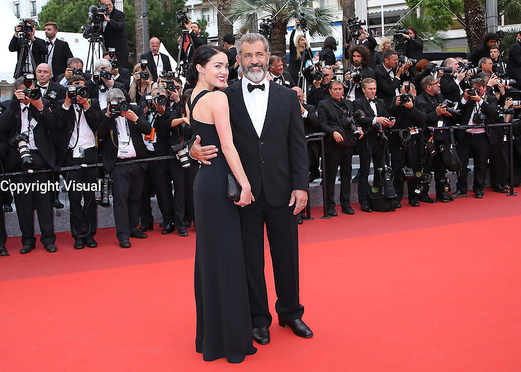 Mel Gibson and Rossalind Ross arrive on the red carpet before the closing ceremony of the 69th annual Cannes International Film Festival in Cannes, France on May 22, 2016. Photo by David Silpa/UPI
