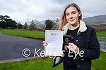 Lauren Victor a Killorglin Community College student from Glenbeigh got the Gaisce Gold President's Award for 52 weeks of Community Service, a personal skill and a physical activity.