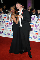 Oti Mabuse and Graeme Swan<br /> arriving for the Pride of Britain Awards 2018 at the Grosvenor House Hotel, London<br /> <br /> ©Ash Knotek  D3456  29/10/2018