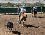 Images from the team roping competition at the Minden Ranch Rodeo in Gardnerville, Nev., on Sunday, July 22, 2012..Photo by Cathleen Allison