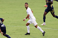 CARY, NC - AUGUST 01: Bruno Lapa #8 follows the play during a game between Birmingham Legion FC and North Carolina FC at Sahlen's Stadium at WakeMed Soccer Park on August 01, 2020 in Cary, North Carolina.