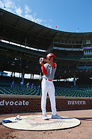 Alejandro Rosario (24) during the Under Armour All-America Game, powered by Baseball Factory, on July 22, 2019 at Wrigley Field in Chicago, Illinois.  Alejandro Rosario attends Miami Christian School in Miami, Florida and is committed to the University of Miami.  (Mike Janes/Four Seam Images)