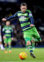 Gylfi Sigurdsson of Swansea City lines up a shot at goal during the Barclays Premier League match between West Bromwich Albion and Swansea City at The Hawthorns on the 2nd of February 2016