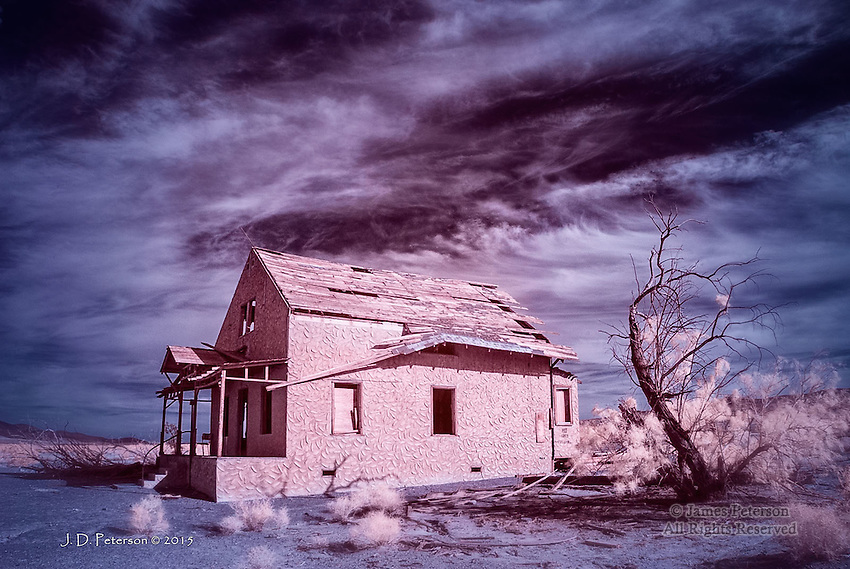 Hard Times along Route 66, Ludlow, California (Infrared)