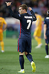 Atletico de Madrid's Antoine Griezmann celebrates goal during Champions League 2015/2016 Quarter-Finals 2nd leg match. April 13,2016. (ALTERPHOTOS/Acero)