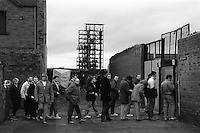Pix:Michael Steele/SWpix...Castleford v Widnes. Rugby League. From the book 'When Push Comes to Shove'....COPYRIGHT PICTURE>>SIMON WILKINSON..Queueing up for Castleford v Widnes.
