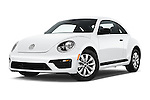 Stock pictures of low aggressive front three quarter view of 2017 Volkswagen Beetle S 3 Door Hatchback Low Aggressive
