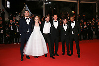 CLAES BANG, ELISABETH MOSS, DIRECTOR RUBEN OSTLUND, DOMINIC WEST, TERRY NOTARY AND GUEST - RED CARPET OF THE FILM 'THE SQUARE' AT THE 70TH FESTIVAL OF CANNES 2017