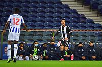20th December 2020; Dragao Stadium, Porto, Portugal; Portuguese Championship 2020/2021, FC Porto versus Nacional; Rúben Freitas of Nacional comes forward against Zaidu Sanusi Zaidu Sanusi of Porto