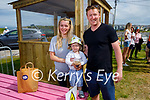 Enjoying the new outdoor dining pods in Ballybunion on Sunday, l to r: Grainne, Jack and David Bennett.